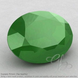 Natural Green Chalcedony Oval Shape Calibrated Gemstones