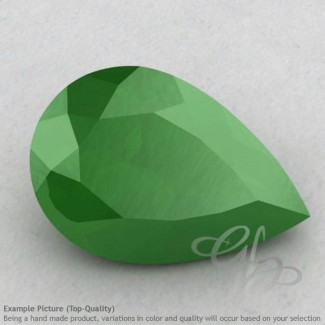 Natural Green Chalcedony Pear Shape Calibrated Gemstones