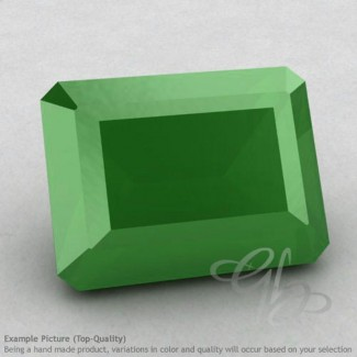 Natural Green Chalcedony Octagon Shape Calibrated Gemstones
