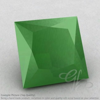 Natural Green Chalcedony Square Shape Calibrated Gemstones