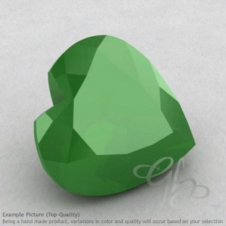 Natural Green Chalcedony Heart Shape Calibrated Gemstones
