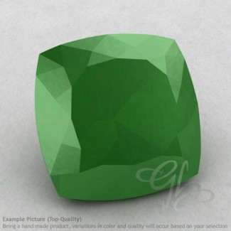 Natural Green Chalcedony Square Cushion Shape Calibrated Gemstones
