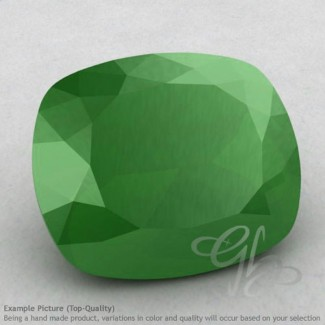 Natural Green Chalcedony Cushion Shape Calibrated Gemstones