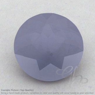 Natural Blue Chalcedony Round Shape Calibrated Gemstones