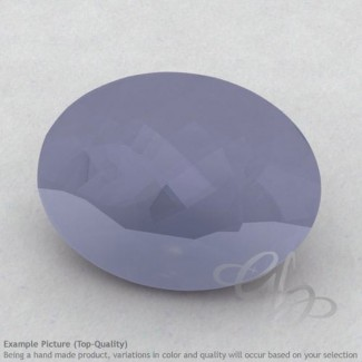 Natural Blue Chalcedony Oval Shape Calibrated Gemstones