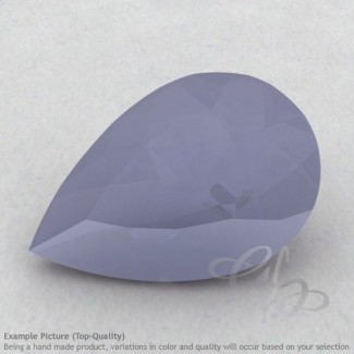 Natural Blue Chalcedony Pear Shape Calibrated Gemstones