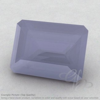 Natural Blue Chalcedony Octagon Shape Calibrated Gemstones