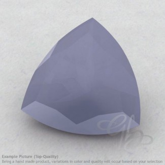 Natural Blue Chalcedony Trillion Shape Calibrated Gemstones