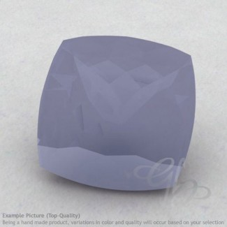 Natural Blue Chalcedony Square Cushion Shape Calibrated Gemstones