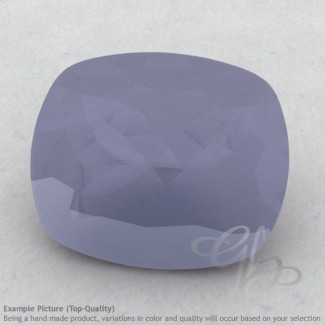 Natural Blue Chalcedony Cushion Shape Calibrated Gemstones
