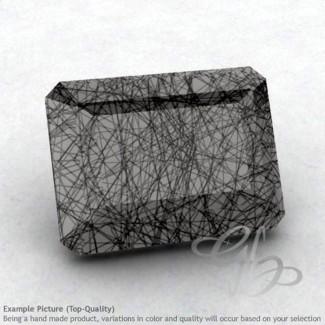 Black Rutile Octagon Shape Calibrated Gemstones