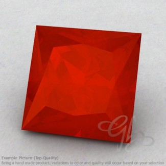 Carnelian Square Shape Calibrated Gemstones