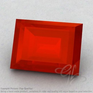 Carnelian Baguette Shape Calibrated Gemstones