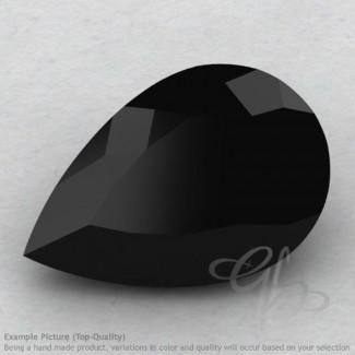 Black Spinel Pear Shape Calibrated Gemstones
