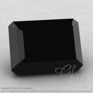 Black Spinel Octagon Shape Calibrated Gemstones