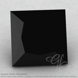 Black Spinel Square Shape Calibrated Gemstones