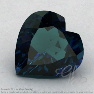 London Blue Topaz Heart Shape Calibrated Gemstones