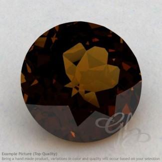 Cognac Quartz Round Shape Calibrated Gemstones