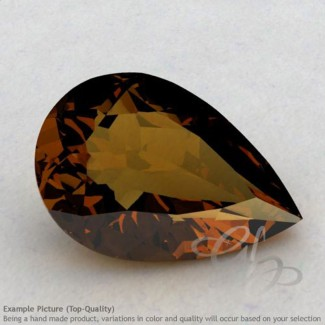 Cognac Quartz Pear Shape Calibrated Gemstones