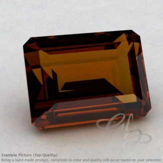 Cognac Quartz Octagon Shape Calibrated Gemstones