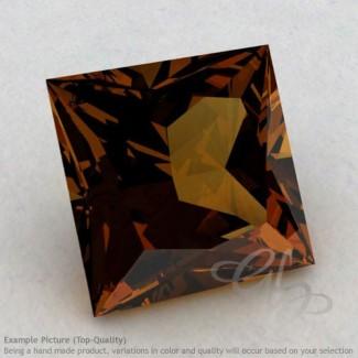 Cognac Quartz Square Shape Calibrated Gemstones