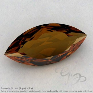 Cognac Quartz Marquise Shape Calibrated Gemstones
