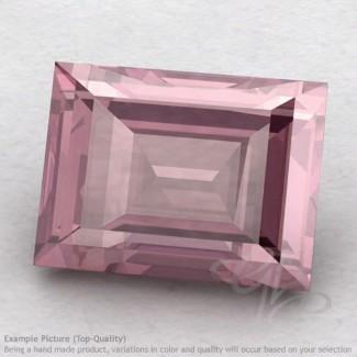 Rose Quartz Baguette Shape Calibrated Gemstones