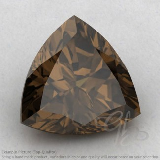 Smoky Quartz Trillion Shape Calibrated Gemstones