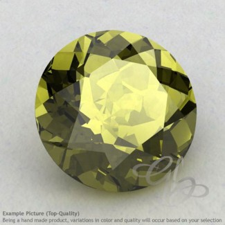 Olive Quartz Round Shape Calibrated Gemstones