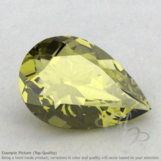 Olive Quartz Pear Shape Calibrated Gemstones
