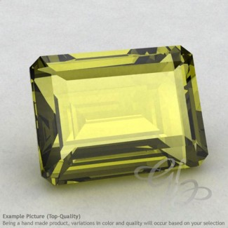 Olive Quartz Octagon Shape Calibrated Gemstones