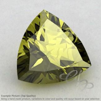 Olive Quartz Trillion Shape Calibrated Gemstones