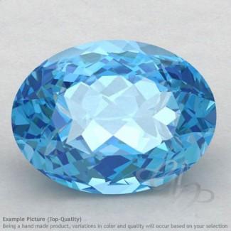 Swiss Blue Topaz Oval Shape Calibrated Gemstones