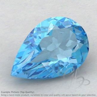 Swiss Blue Topaz Pear Shape Calibrated Gemstones