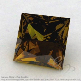 Beer Quartz Square Shape Calibrated Gemstones