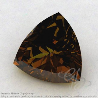Beer Quartz Trillion Shape Calibrated Gemstones