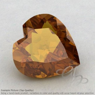 Honey Quartz Heart Shape Calibrated Gemstones