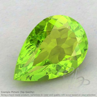 Peridot Pear Shape Calibrated Gemstones