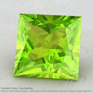 Peridot Square Shape Calibrated Gemstones