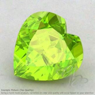 Peridot Heart Shape Calibrated Gemstones