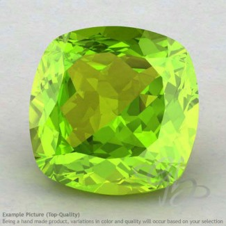 Peridot Square Cushion Shape Calibrated Gemstones