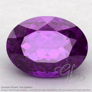 African Amethyst Oval Shape Calibrated Gemstones