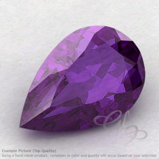 African Amethyst Pear Shape Calibrated Gemstones