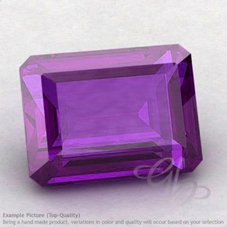 African Amethyst Octagon Shape Calibrated Gemstones