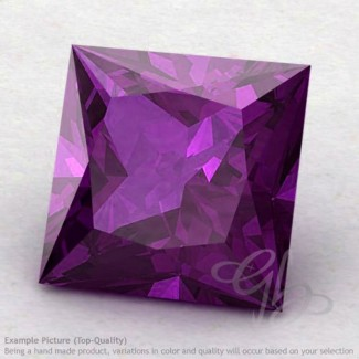 African Amethyst Square Shape Calibrated Gemstones