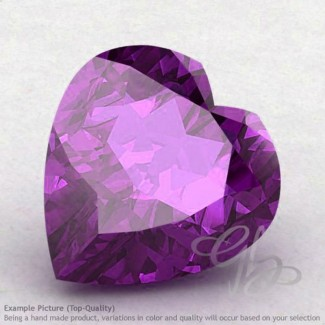 African Amethyst Heart Shape Calibrated Gemstones