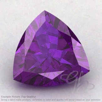 African Amethyst Trillion Shape Calibrated Gemstones