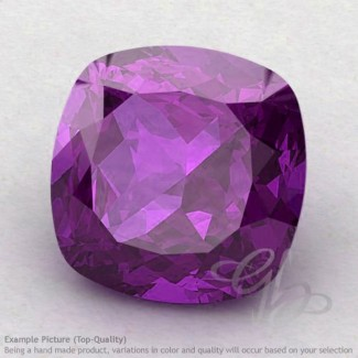 African Amethyst Square Cushion Shape Calibrated Gemstones