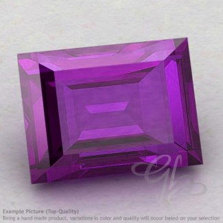 African Amethyst Baguette Shape Calibrated Gemstones