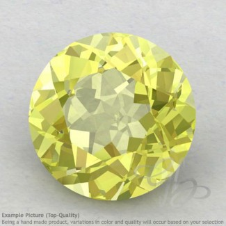 Lemon Quartz Round Shape Calibrated Gemstones